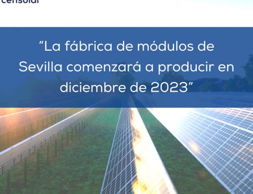 """Noticias España: """"La fábrica de módulos de Sevilla comenzará a producir en diciembre de 2023"""""""