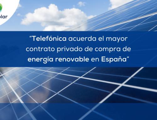 """Noticias España: """"Telefónica acuerda el mayor contrato privado de compra de energía renovable en España"""""""